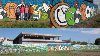 Inauguraron inmenso mural en Alto Comedero