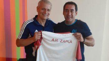 Castrilli visitó el club Altos Hornos Zapla