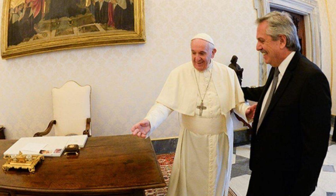 Alberto Fernández: No hablamos sobre el aborto con el Papa