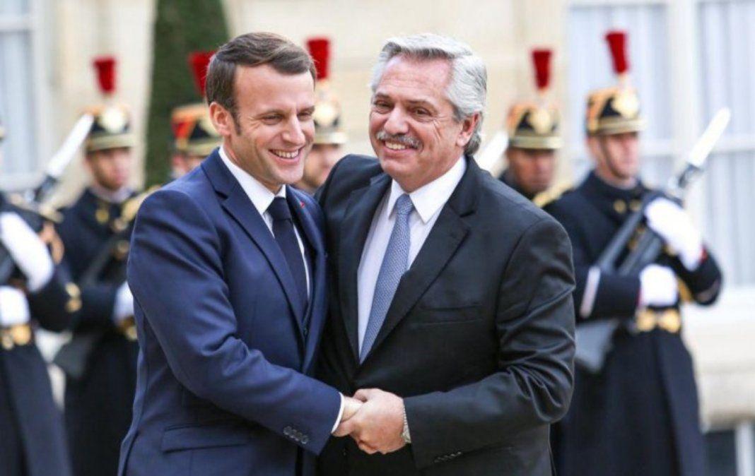 Macron manifestó su apoyo al país en las negociaciones con el FMI