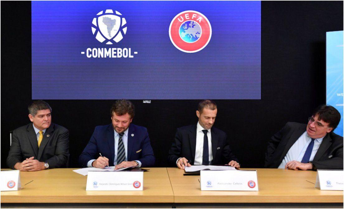 La cumbre UEFA-Conmebol, sin la FIFA pero con Tapia