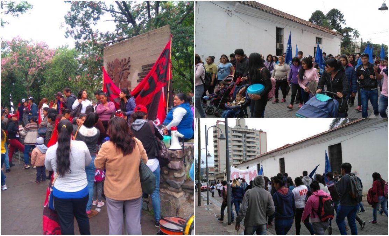 Organizaciones sociales movilizan por las calles céntricas