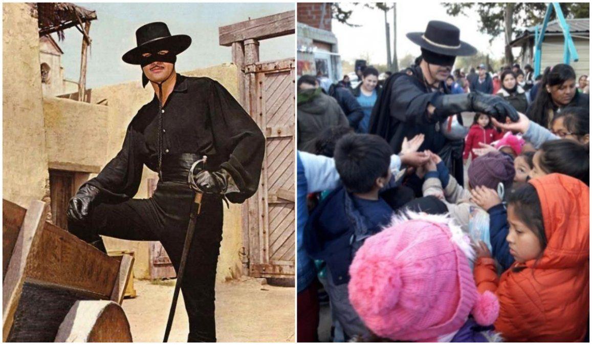 Se disfrazó de Zorro para pedir que su héroe vuelva a la TV