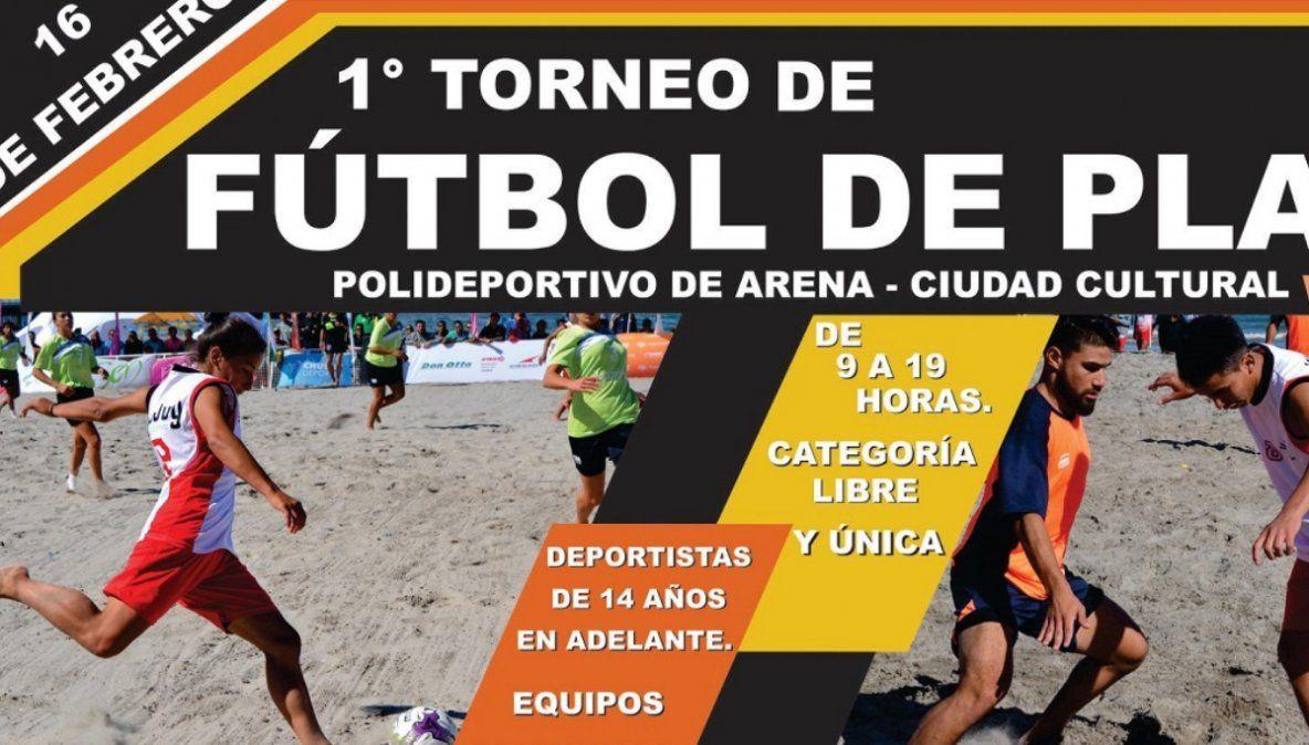 Se juega el primer partido de fútbol playa en Ciudad Cultural