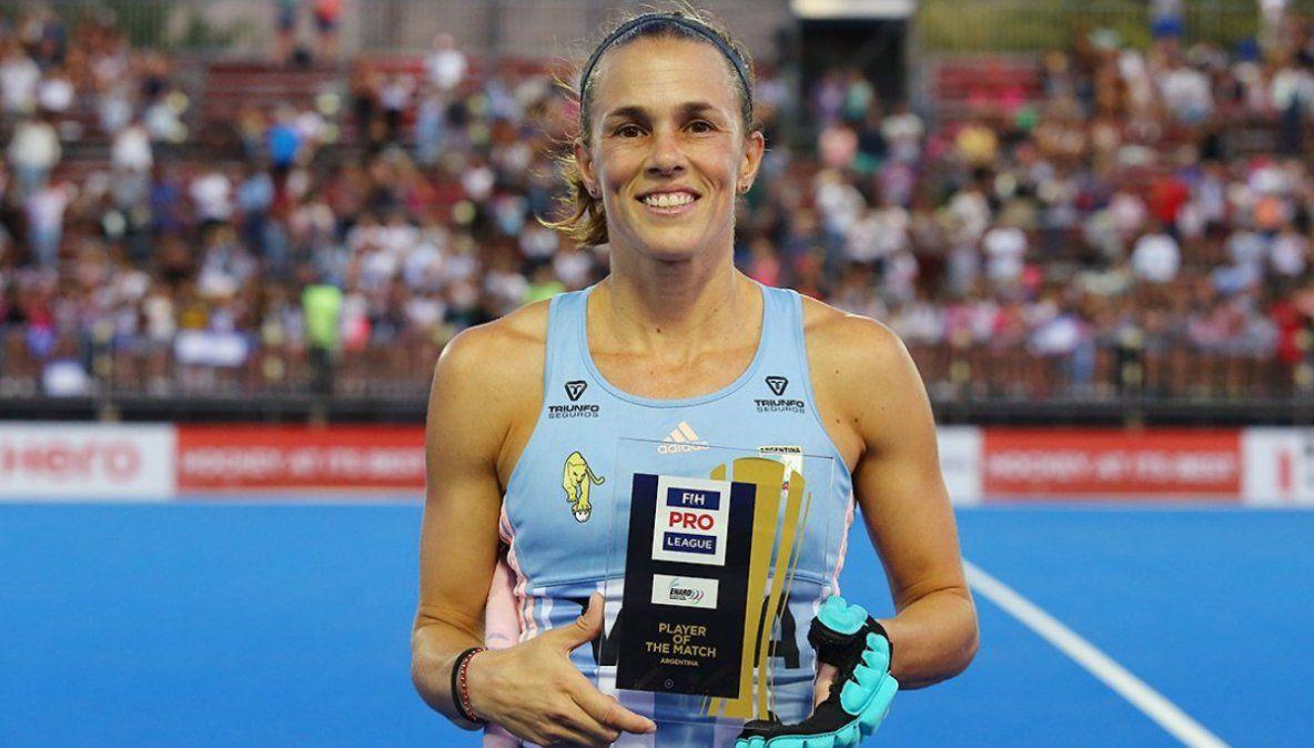 Carla Rebecchi, segunda mejor jugadora internacional del año