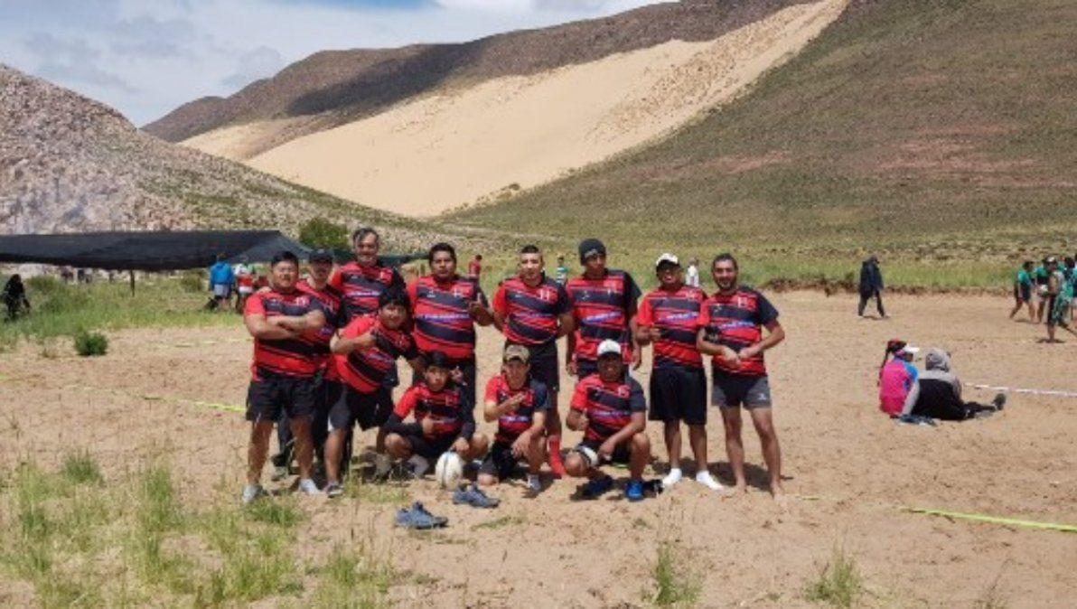 Encuentro de rugby arena en el Huancar