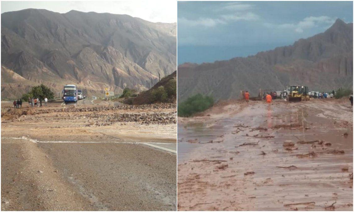 Temporal en la Quebrada: Se mantiene el corte en Ruta 9