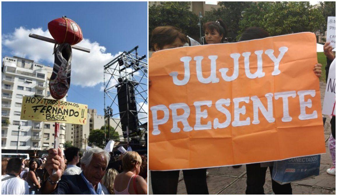 Emocionante marcha en pedido de justicia por la muerte de Fernando Baéz Sosa