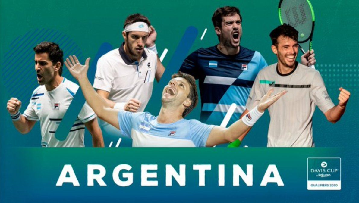 Equipo confirmado para el repechaje de la Copa Davis ante Colombia