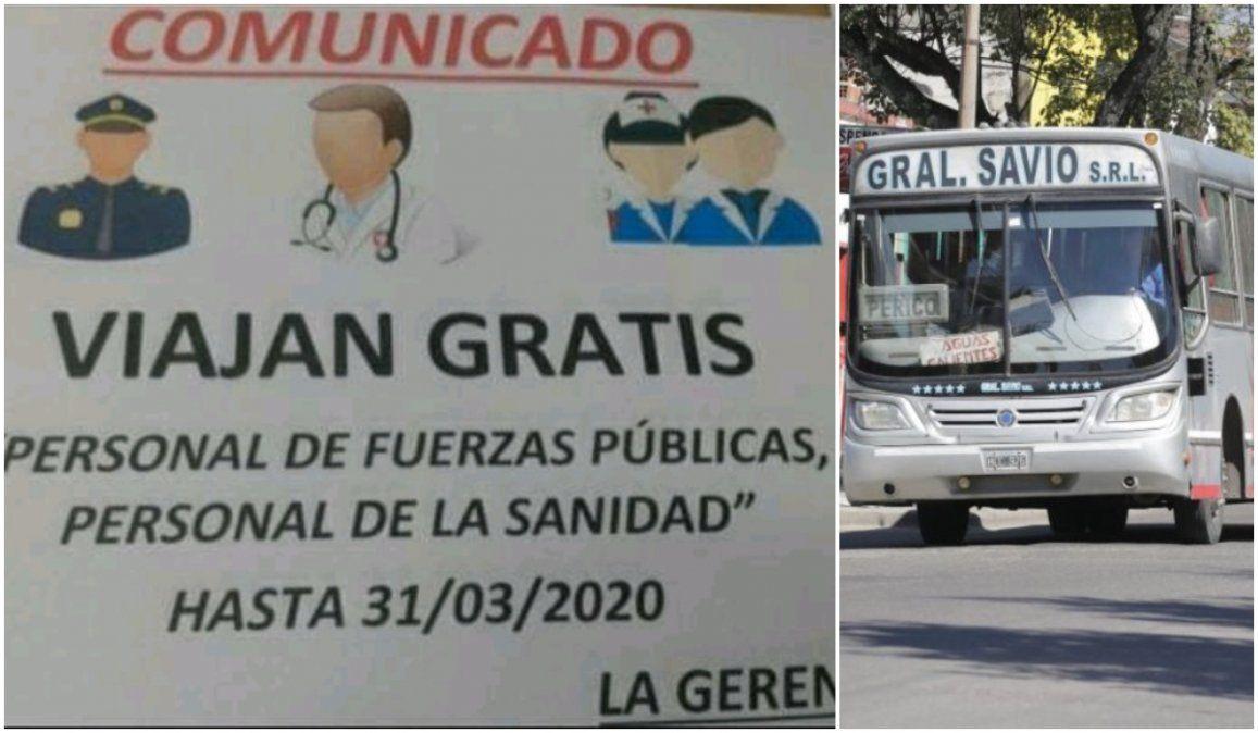 Excelente iniciativa: Empresa de transporte traslada gratis a personal de sanidad y de seguridad