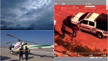 El helicóptero provincial es capaz de captar imágenes a 20 kilómetros de distancia