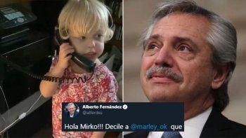 El divertido llamado de Mirko: le hizo un pedido al presidente y obtuvo respuesta
