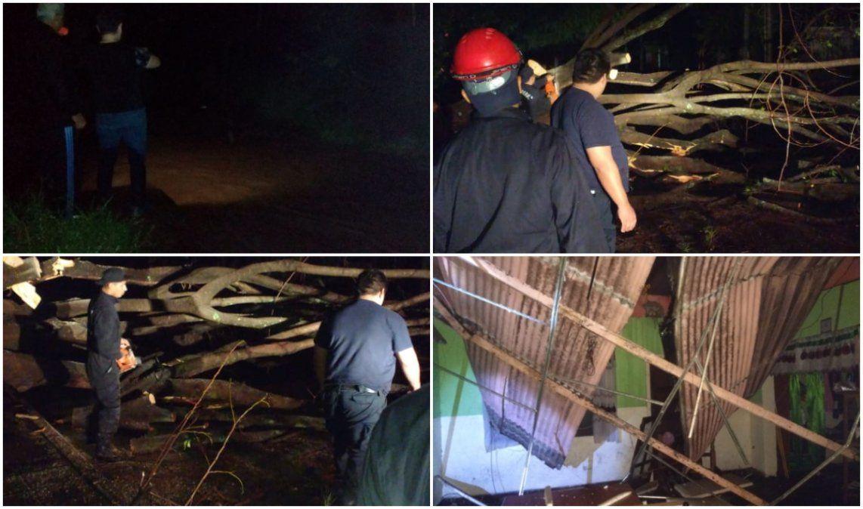 Fuerte temporal azotó a la zona del Ramal