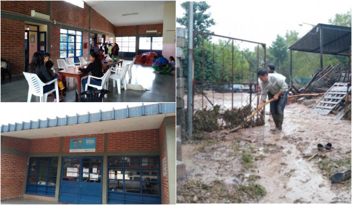 Familias evacuadas por el temporal se encuentran contenidas en centros comunitarios