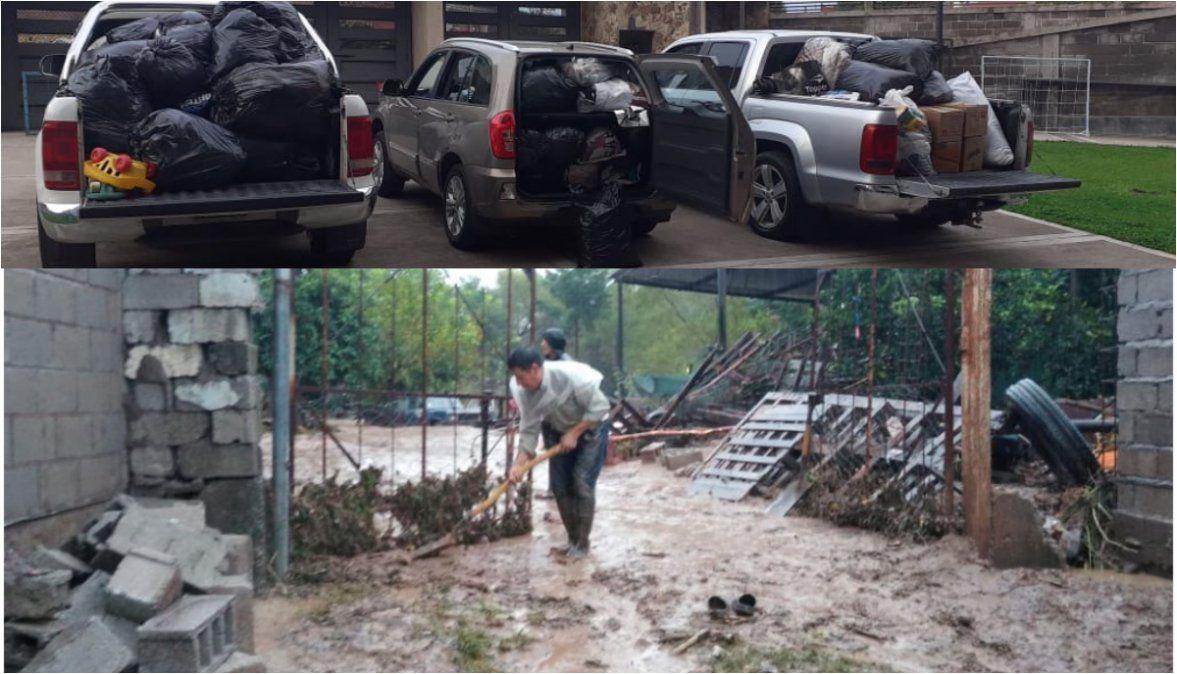 Con gran respuesta, Gimnasia recibió donaciones para las familias evacuadas de Chijra