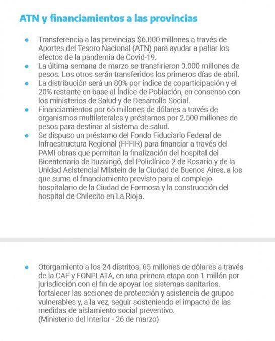 Cuánto dinero recibió Jujuy en medio de la pandemia