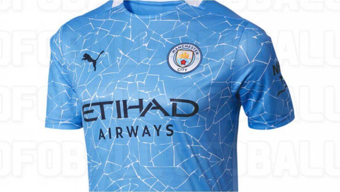 Se filtraron las nuevas y llamativas camisetas del Manchester City
