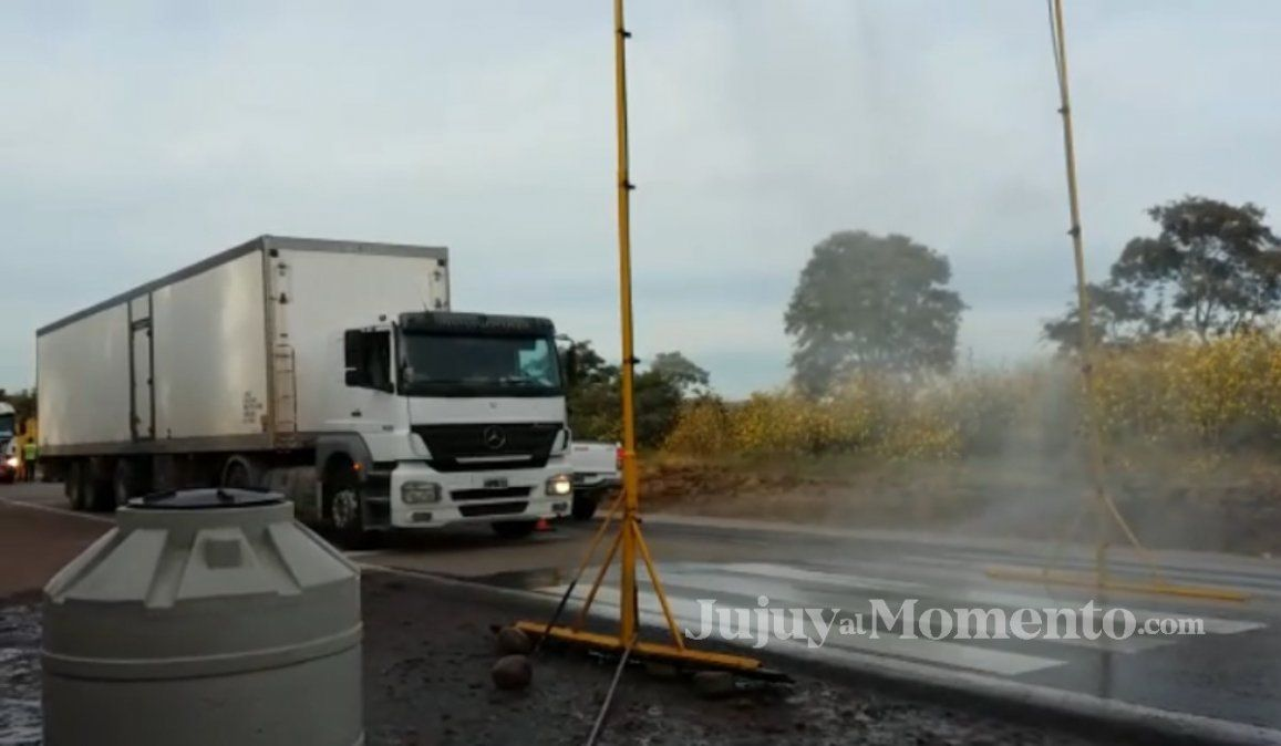 Desinfección de vehículos las 24 horas en Fraile Pintado y Libertador