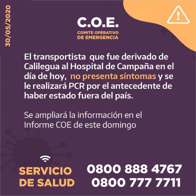 Dos nuevos casos sospechosos en Jujuy, uno es un transportista de Calilegua