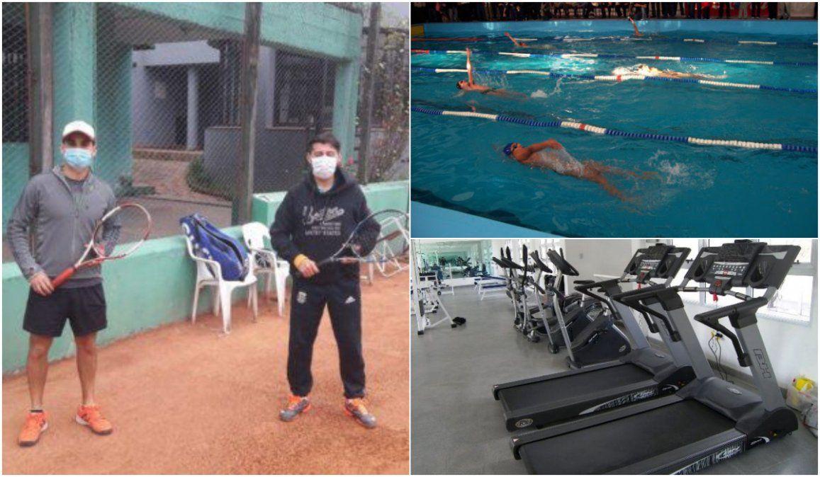 Más deportes habilitados: Tenis y padel en dobles, natación y elementos en gimnasios