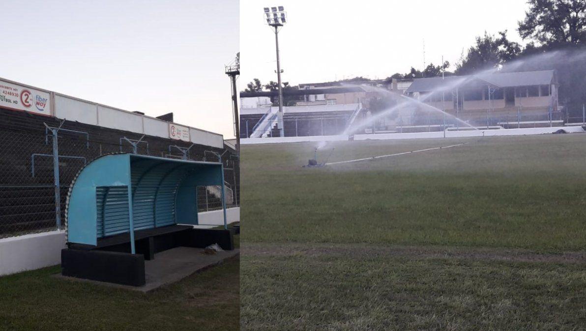 Se realizan trabajos de mantenimiento en el estadio La Tablada