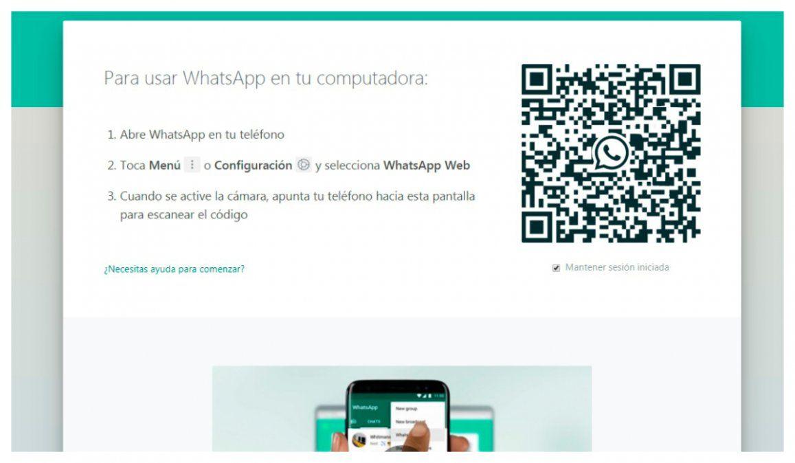 Cómo hacer videollamadas con Whatsapp Web