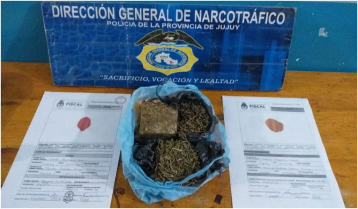 Secuestraron droga dentro de un pabellón y a dos mujeres en la vía pública