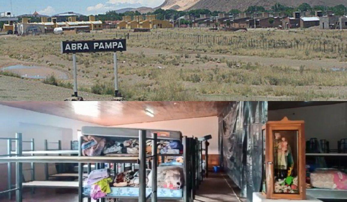 Camas cuchetas y separadores de nylon: El precario hospital de campaña de Abra Pampa