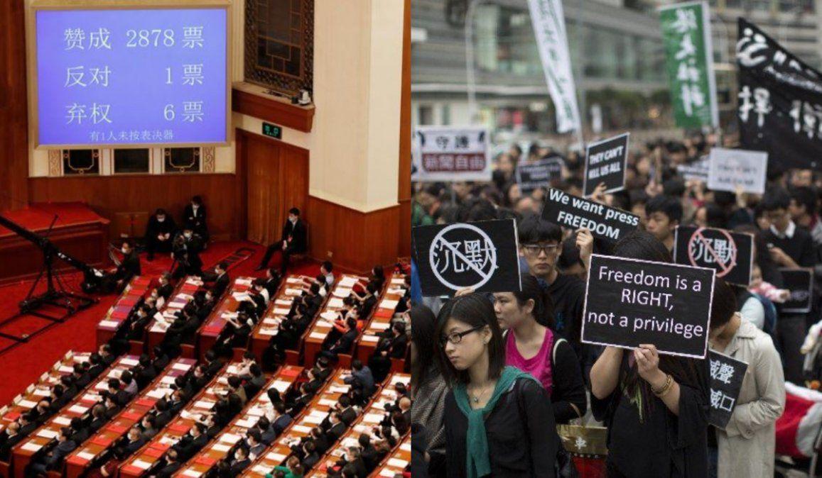 China aprobó una polémica ley que atenta contra la autonomía de Hong Kong