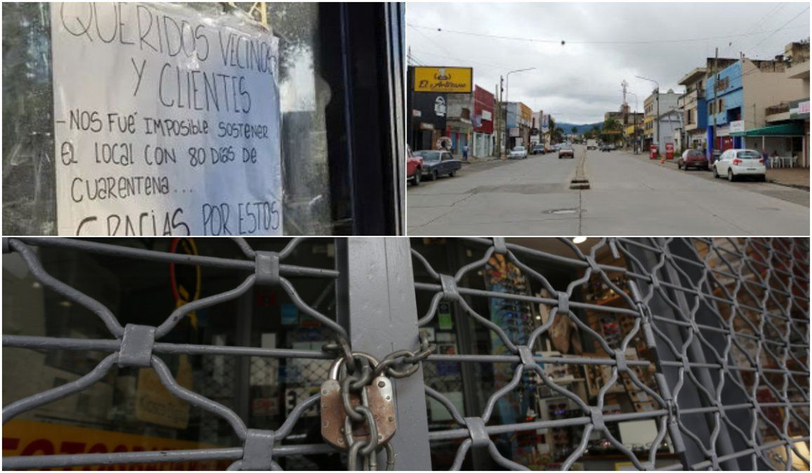 Asfixiados por la crisis, cerraron siete comercios en una cuadra