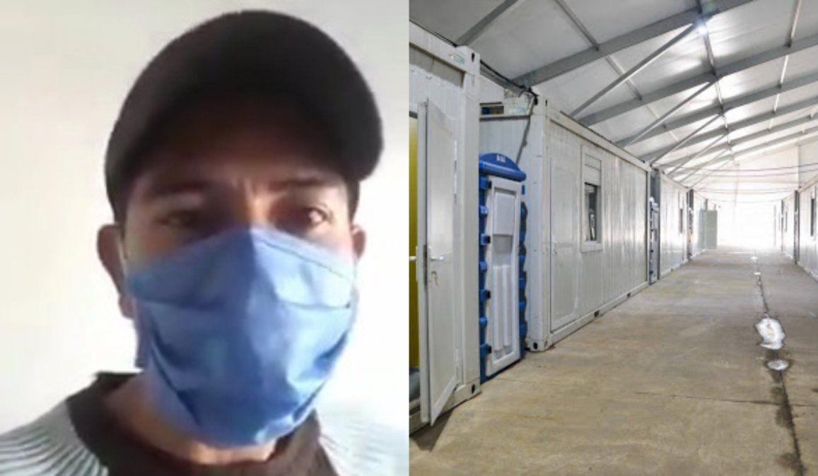 Policía con coronavirus: No hay agua, no hay luz, comemos sobre la cama y el piso