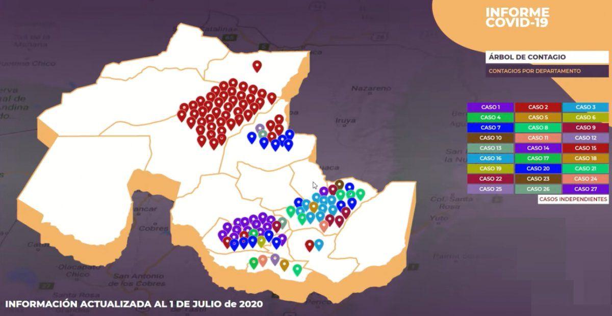 Coronavirus: Jujuy identificó 27 casos índices que iniciaron contagios