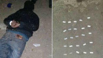 Detenido violando la cuarentena y con 25 envoltorios de pasta base