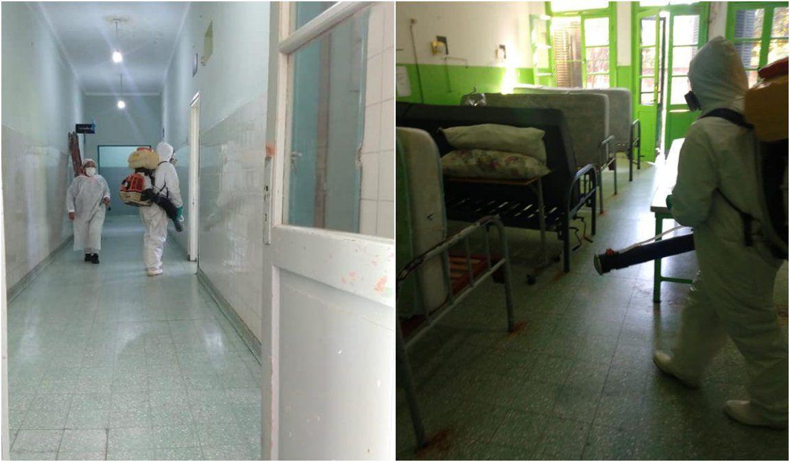 Fotos: Desinfección en hospitales de Jujuy por coronavirus