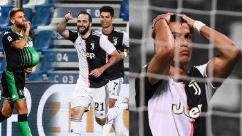 Con gol de Higuaín, Juventus empató con Sassuolo