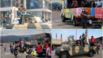 El Santísimo Salvador recorrió los barrios de la ciudad