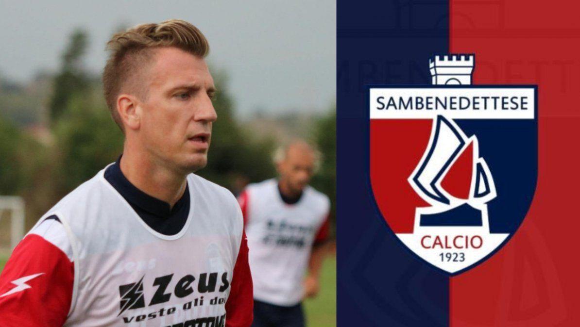 Maxi López, nuevo jugador de Sambenedettese, de la Serie C