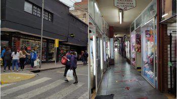 Las dos postales: calles abarrotadas de gente y galerías vacías