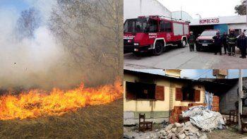 Bomberos voluntarios de Palpalá intervienen diariamente ante incendios