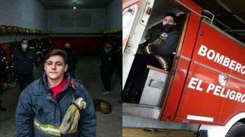 Joven bombero de 15 años salvó a una mujer con maniobras de RCP