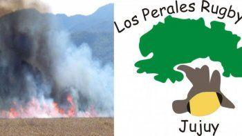 Los Perales Rugby Club nuevamente víctima de quema de pastizales