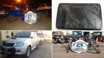Casos resueltos con detenidos y elementos recuperados por la Dirección de Investigaciones
