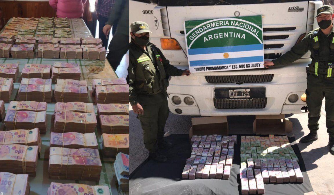 Gendarmería secuestró 7 millones de pesos transportados ilegalmente en un camión