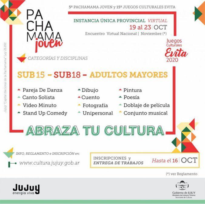 Lanzaron los Juegos Culturales Evita, Pachamama Joven y Pachamama Promo 2020