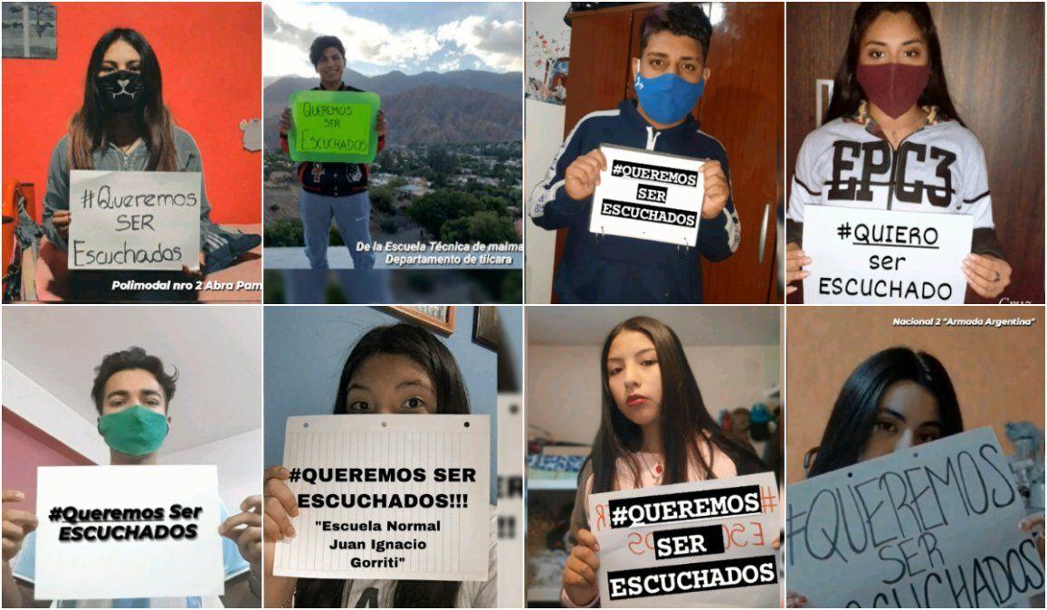 #QueremosSerEscuchados, estudiantes jujeños piden hablar con Isolda Calsina