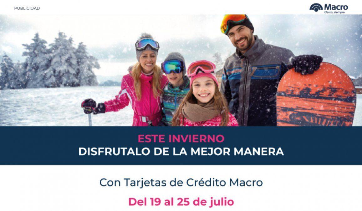 Banco Macro tiene los mejores beneficios en las vacaciones de invierno