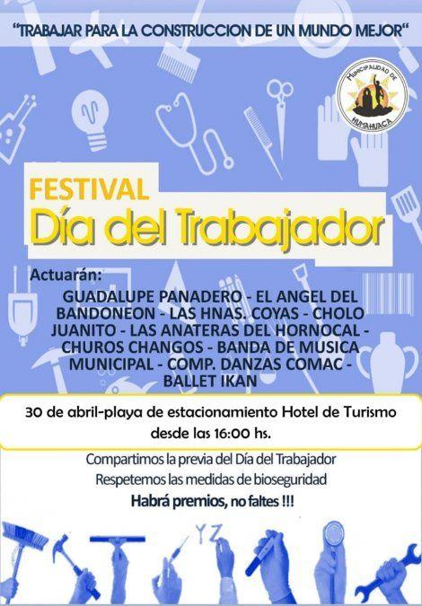 Por el día del trabajador habrá un festival al aire libre en Humahuaca