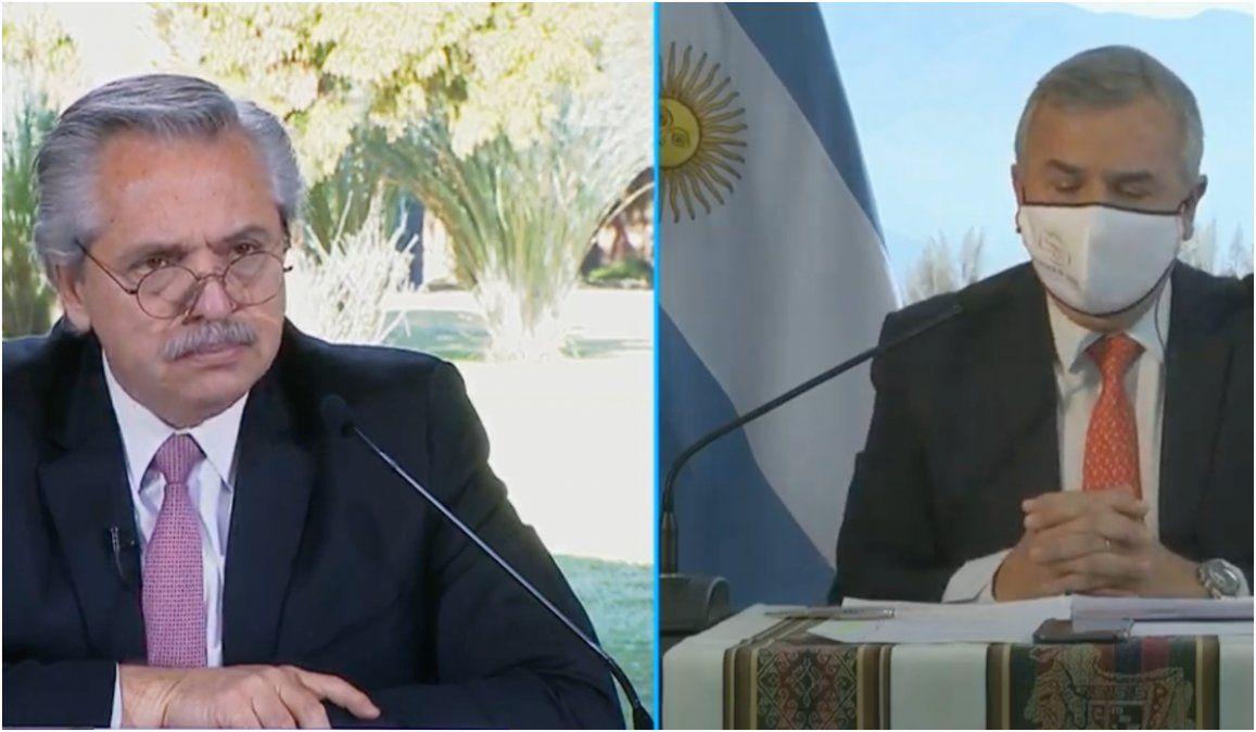 Morales le informó al presidente sobre los orígenes del brote en Jujuy