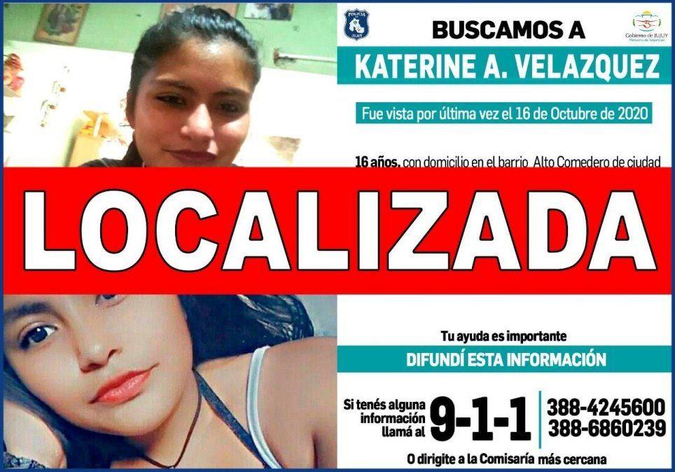 Katerine Velázquez fue localizada y se encuentra bien
