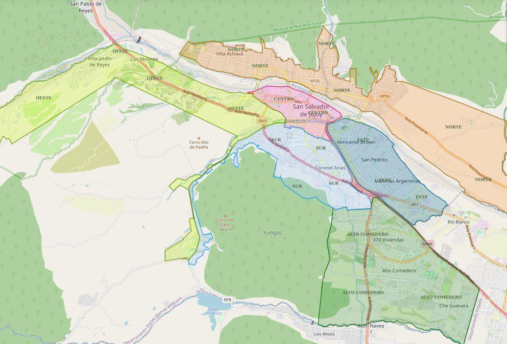 Así está el mapa de los casos activos en Capital